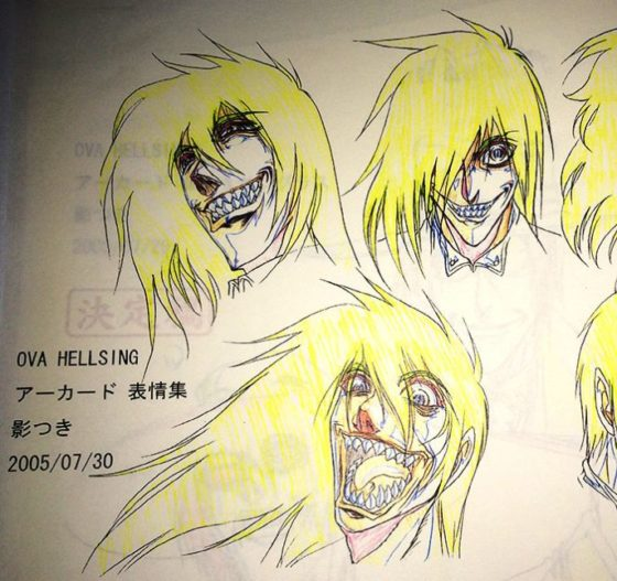 Hellsing OVA Production sheets